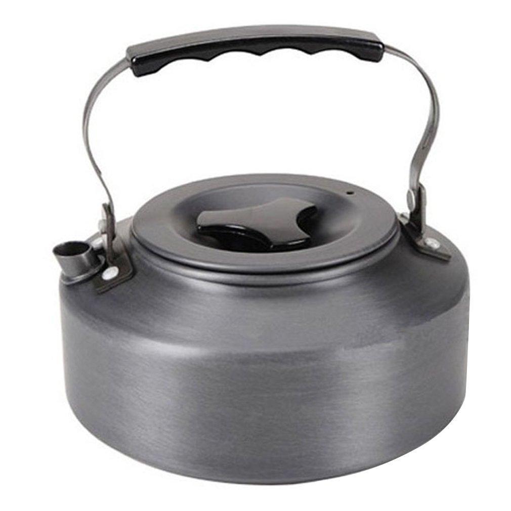 GOFT 1.1L Kettle Picnic Camping Cookware Teapot Water Coffee Pot Aluminum Outdoor gray