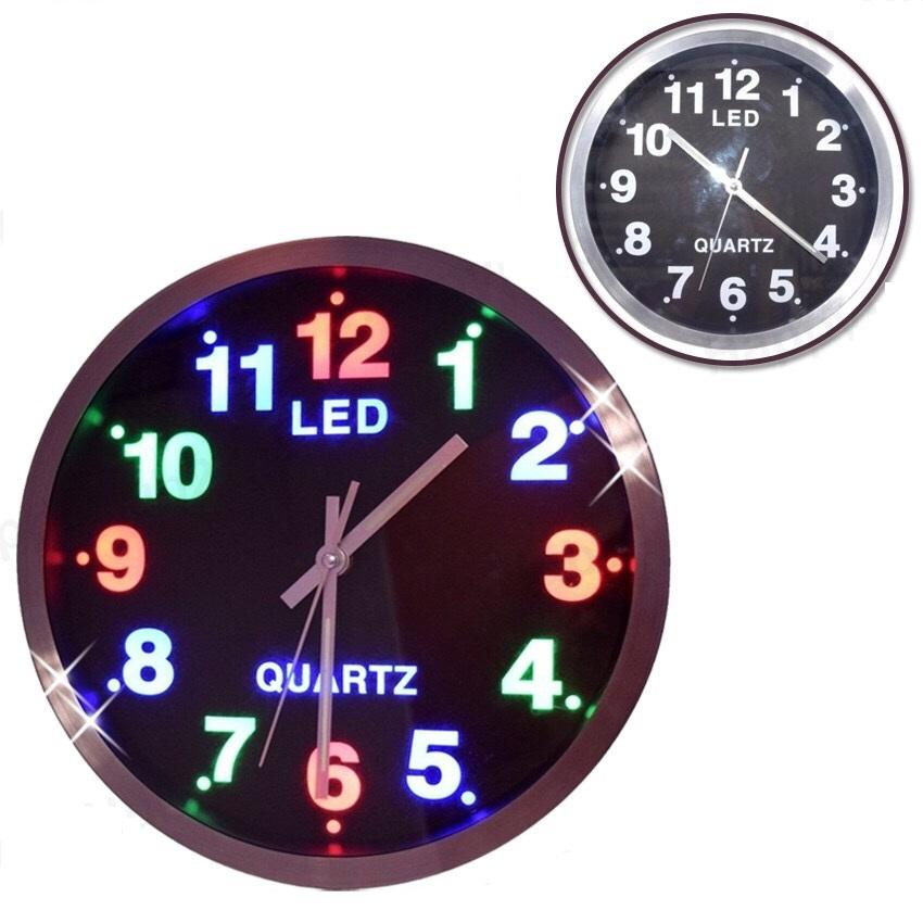 QUARTZ LED WALL CLOCK 801