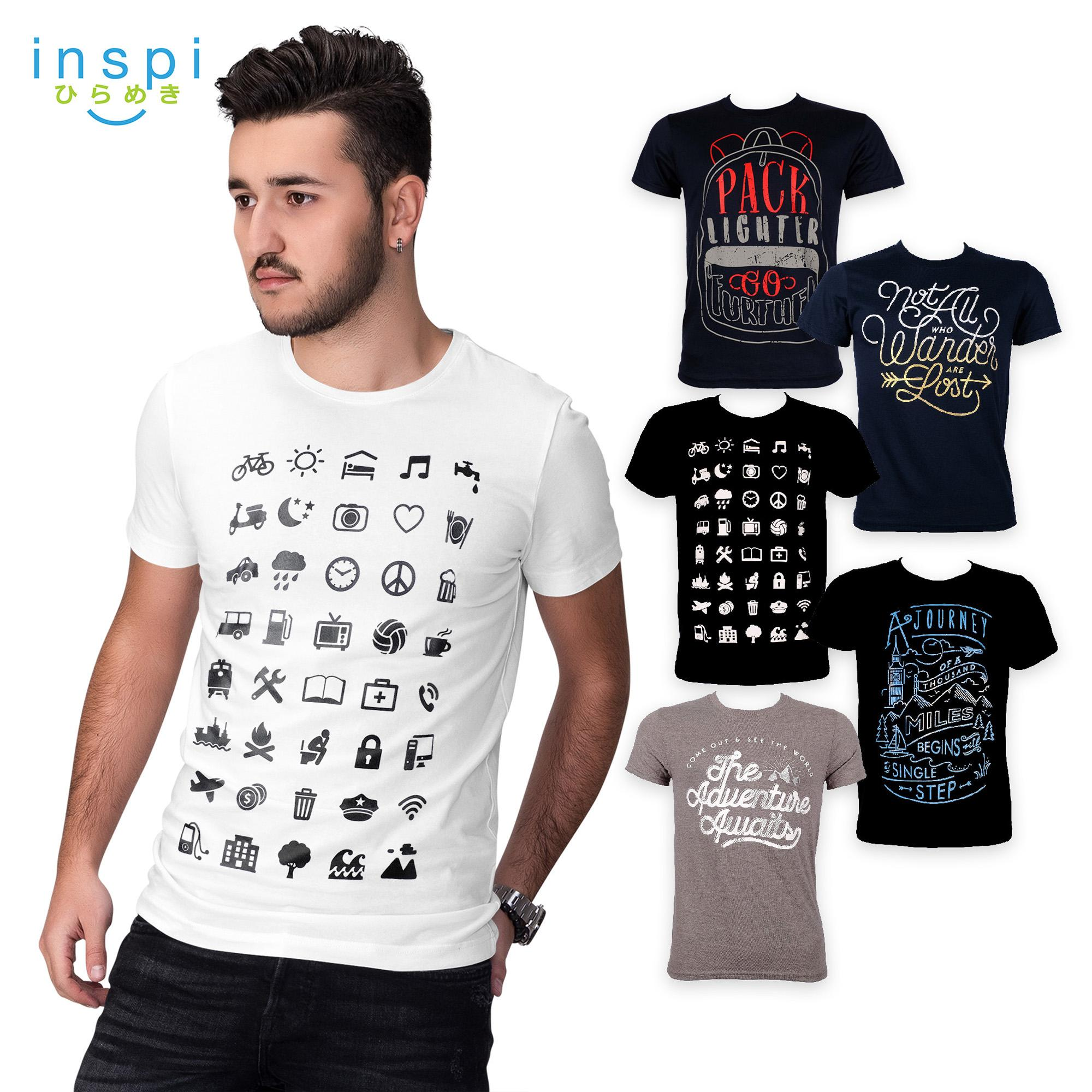 987e1419c INSPI Tees Travel Collection tshirt printed graphic tee Mens t shirt shirts  for men tshirts sale