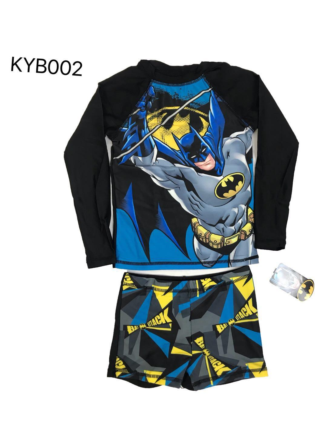 Baby&kids Batman Terno Rashguard Longsleeve And Shorts For Boykyb002 By Joy Wears.