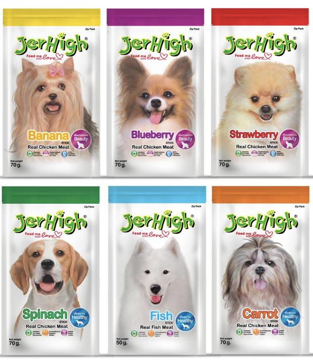 Jerhigh Treats Assorted Dog Treats For Your Pet, Puppy, Dog (set Of 6) Flavors May Vary By Smooch Pooch Discount Center.
