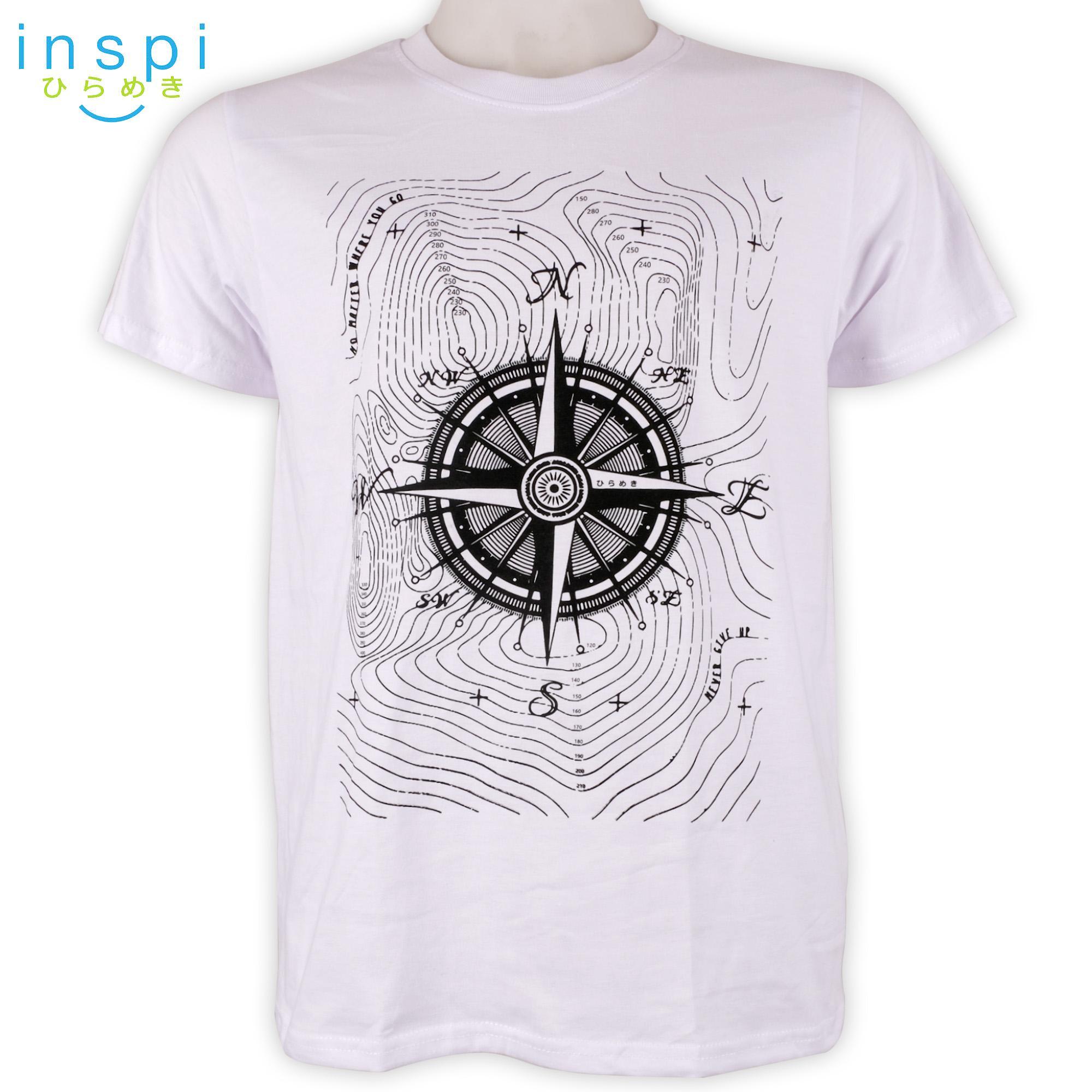 ca09b2b22 INSPI Tees Compass (White) tshirt printed graphic tee Mens t shirt shirts  for men