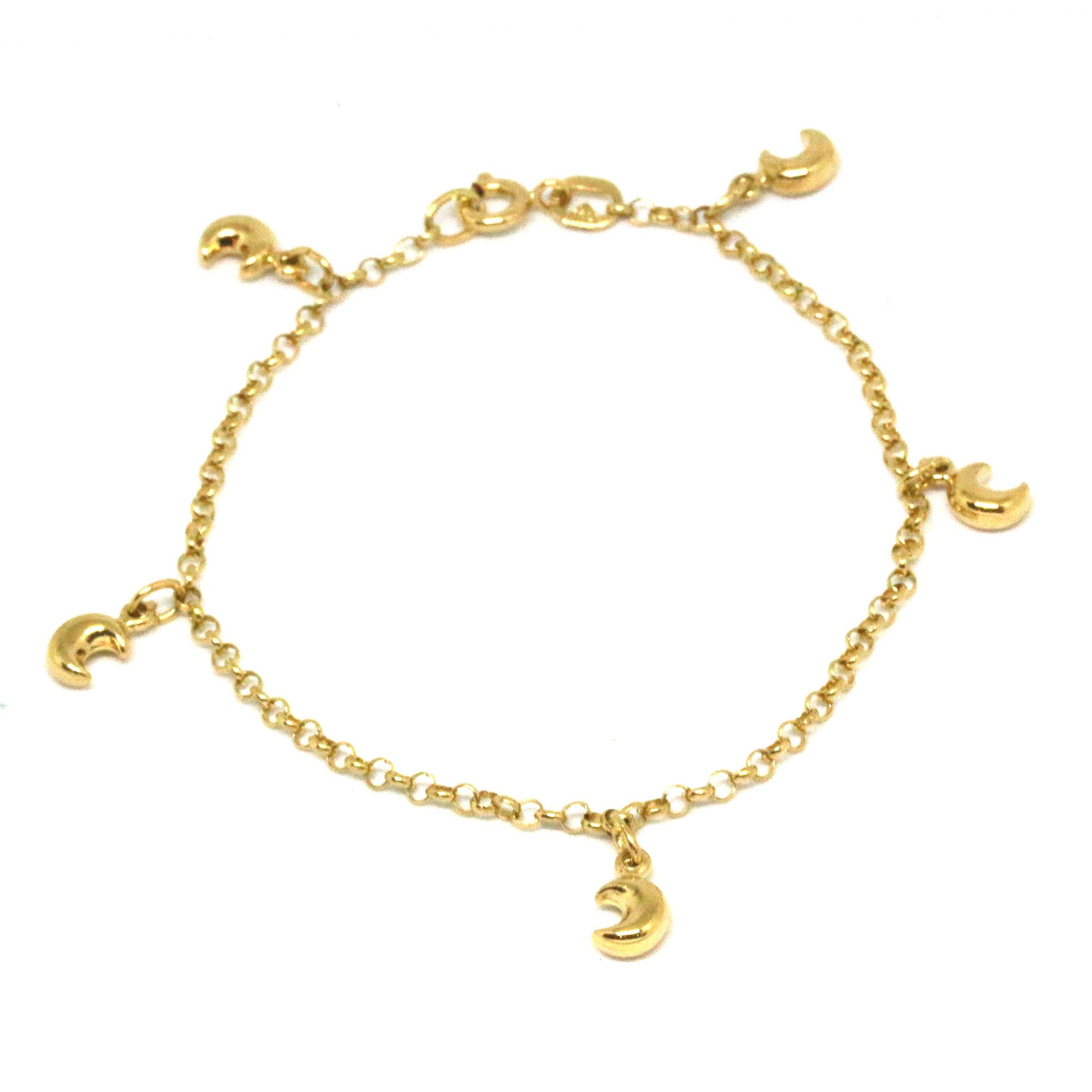 overstock jewelry shipping figaro product free inches k flat yellow high karat anklet gold watches fremada polish today