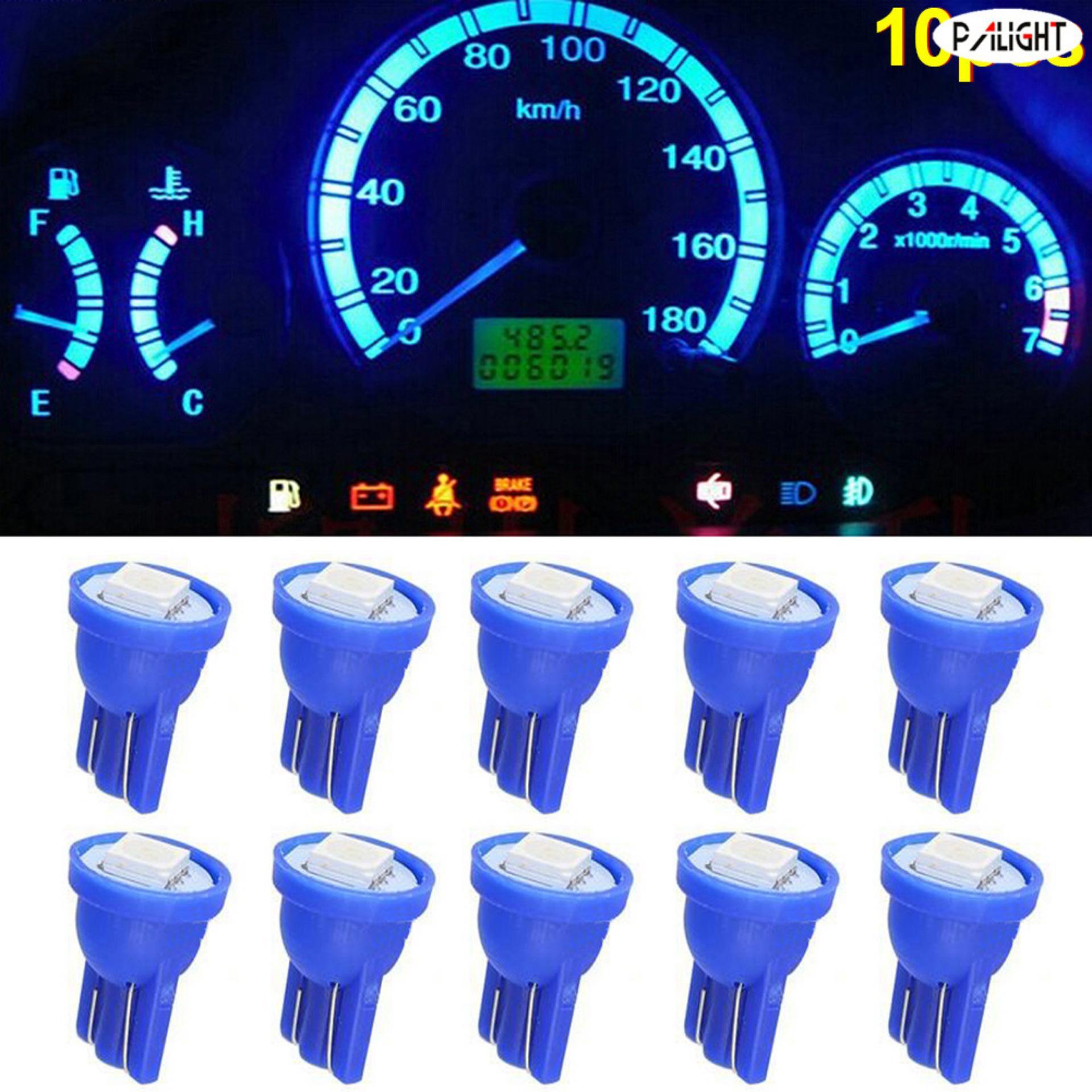 PAlight 10pcs T10 Wedge 5050 SMD Car LED Gauge Cluster Lights 147 152 Speedometer Lamps -