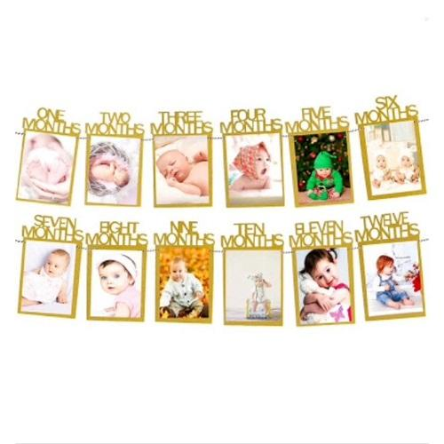 GB Complete Montly Birthday Photo Frame Banner 1 12 Months