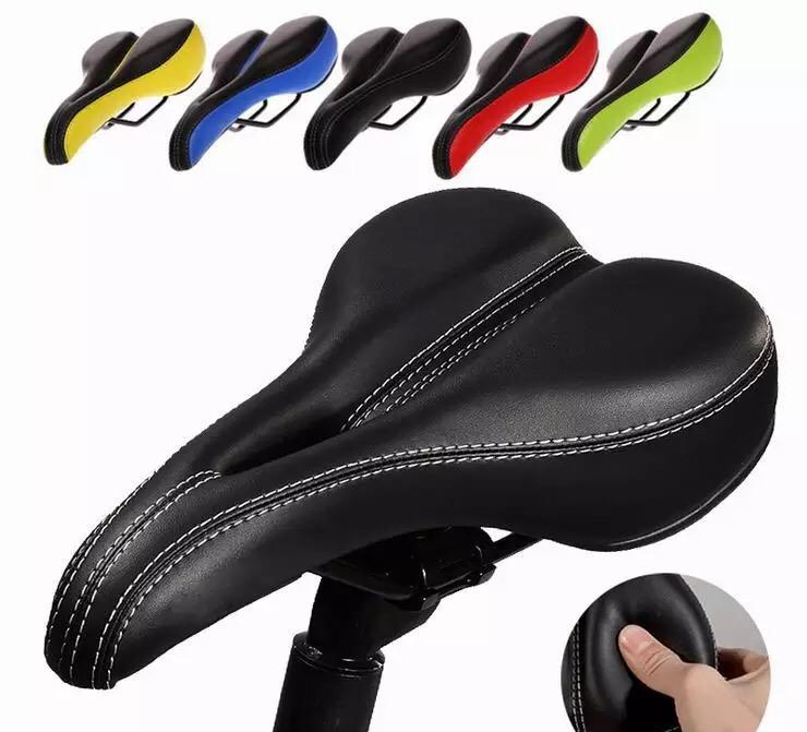 15b9878b070 Thicken Bike Seat Soft Comfortable MTB Mountain Road Sponge Bicycle Saddle  Cushion for Men and Women