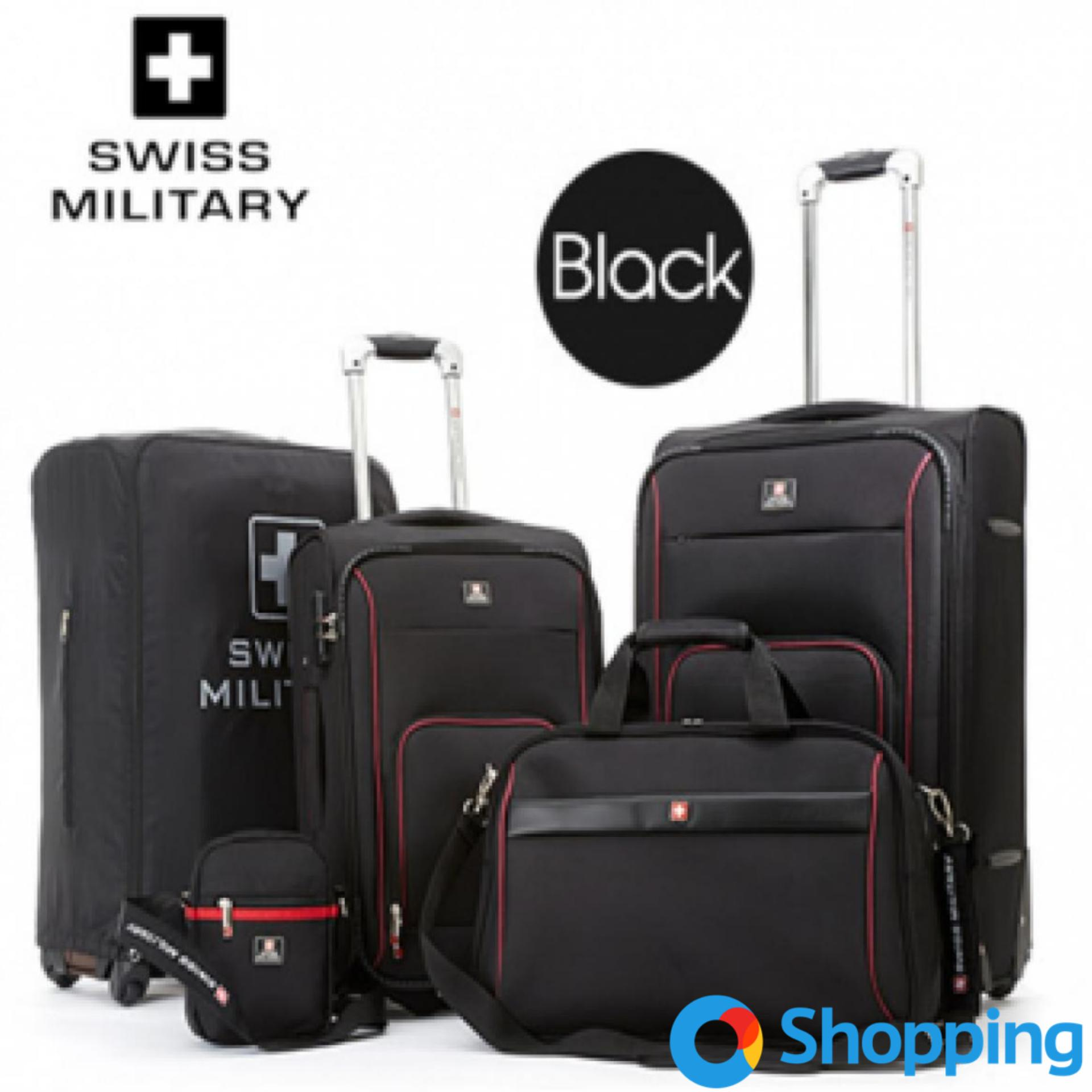 Swiss Military Luggage 5-Piece Set [black] By O Shopping.