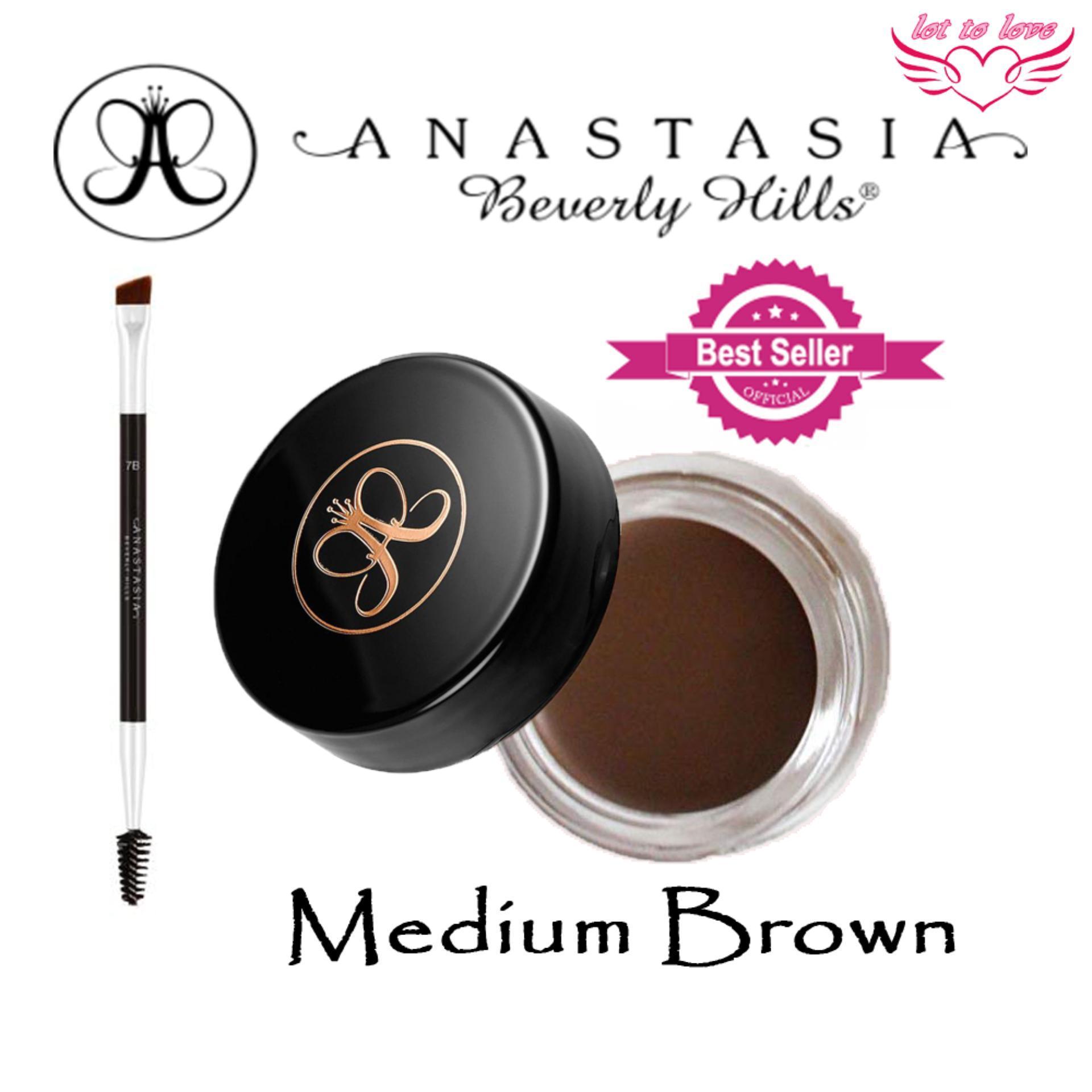 JBox# Anastasia Dipbrow Pomade Eyebrow ( MEDIUM BROWN ) With Free #12 Brush Philippines