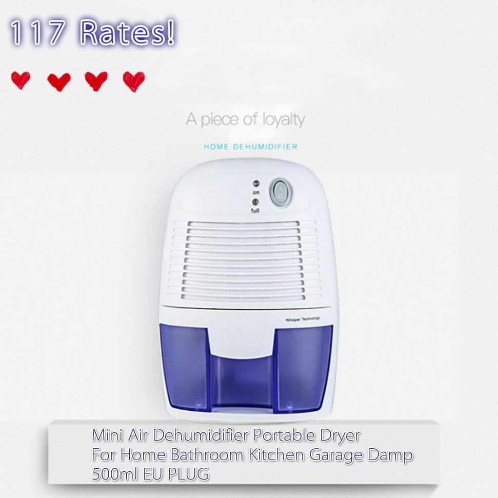 xROW-600B Mini Air Dehumidifier Portable Dryer Bathroom Garage Damp 500ml EU PLUG - Intl