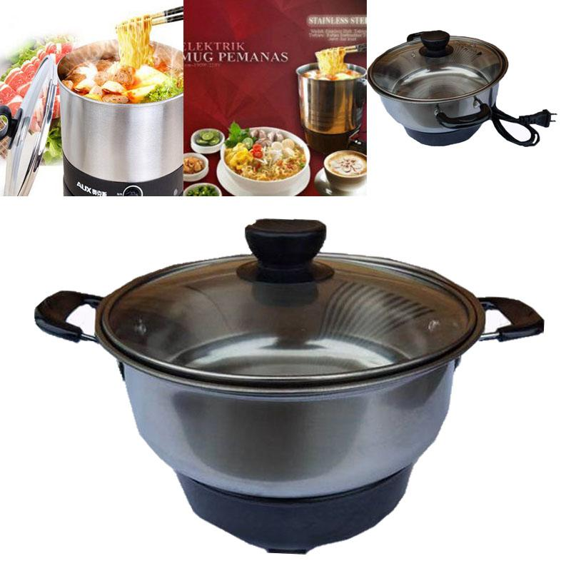 18cm Electrothermal Stainless Steel Electric Soup Heating Pot Cookware (678g) By Geneva Online Shop.