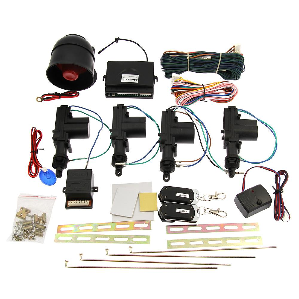 Remote Keyless Entry Security Car Alarm 4 Door Power Lock Actuator Vehicle Kit Toyota Immobilizer Wiring Diagram