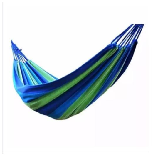 Portable Cotton Rope Outdoor Hammock Duyan(blue) By Cheung Kong.