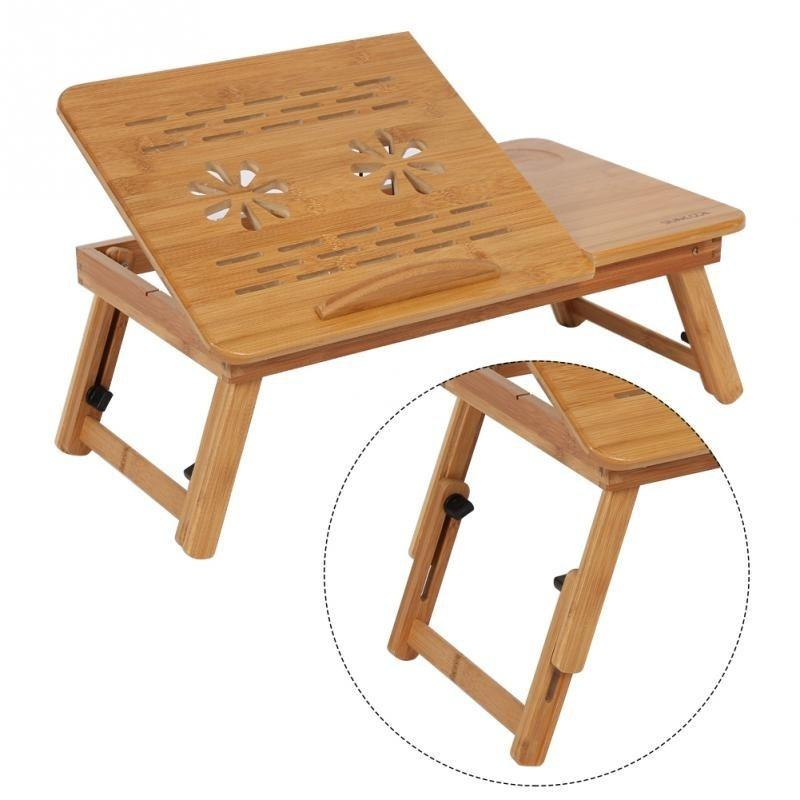 Wooden Portable Folding Bamboo Bed Laptop Table Stand Computer Laptop Desk By Shinecool Trading.