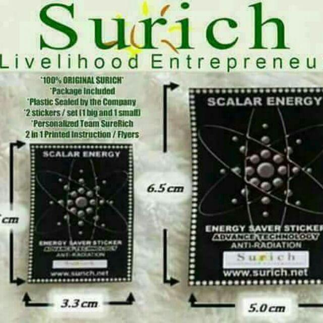 Scalar Energy Saver Sticker Original 2 Pieces 1 Small And 1 Big Biggest Sale! By Reliv Official Shop.