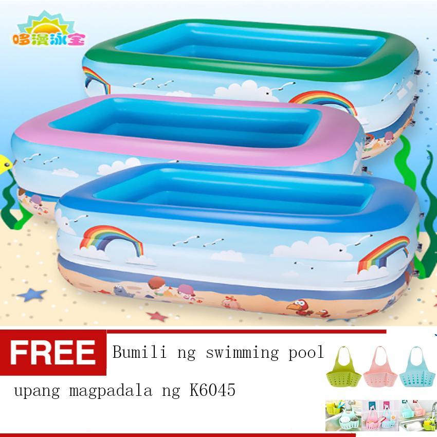 LOVEu0026HOME 130cm Inflatable Swimming Pool For Children Free Kitchen Hanging  Holder Sink Racks Bath Storage Bag