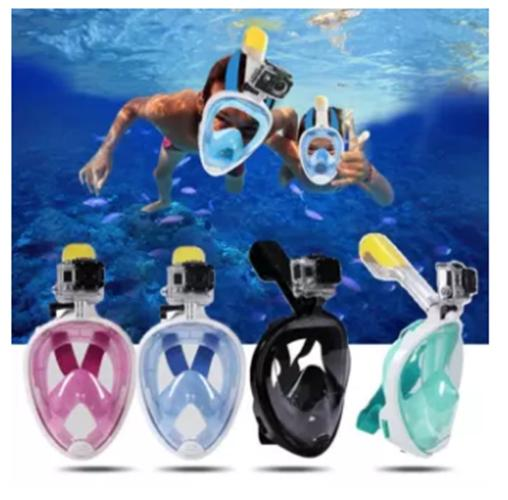 29bf983a037 Easy Breath Full Dry Diving Full Face Mask Swimming Goggles for Gopro  Camera L XL