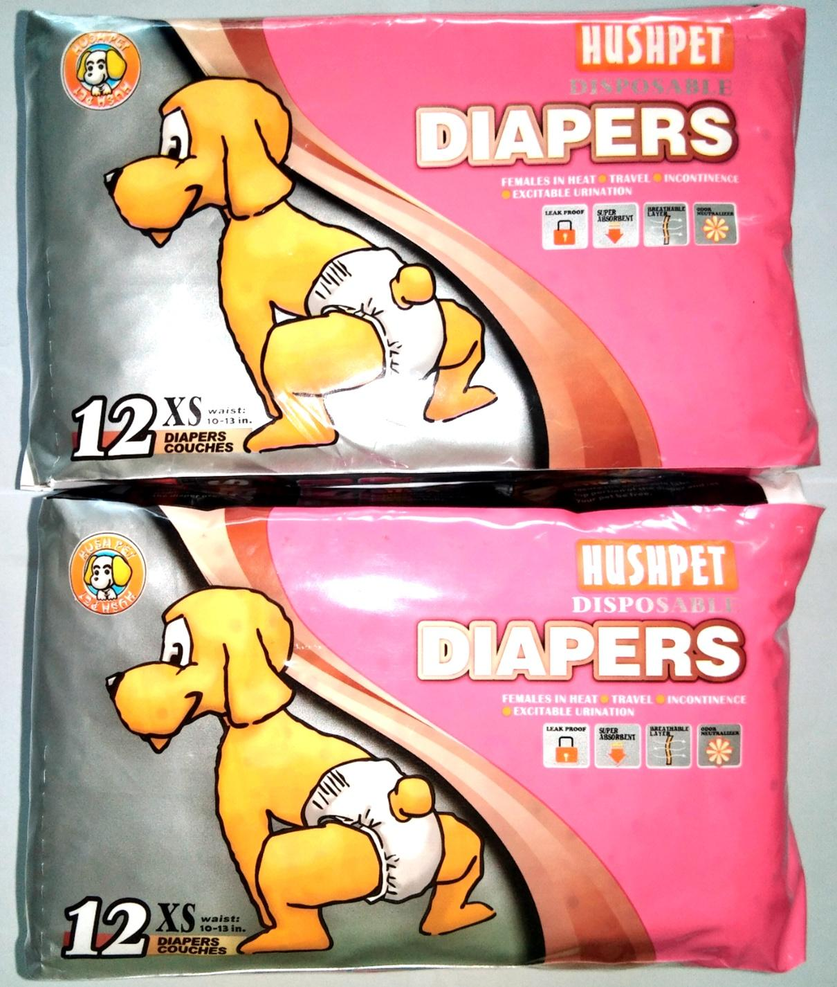HushPet Dod Disposable Diapers { Extra Small } 12pcs. Set Of 2 Philippines