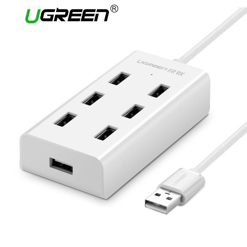 UGREEN 1Meter USB 2.0 HUB 7 Port Super Speed USB Splitter with Micro USB Charging Interface
