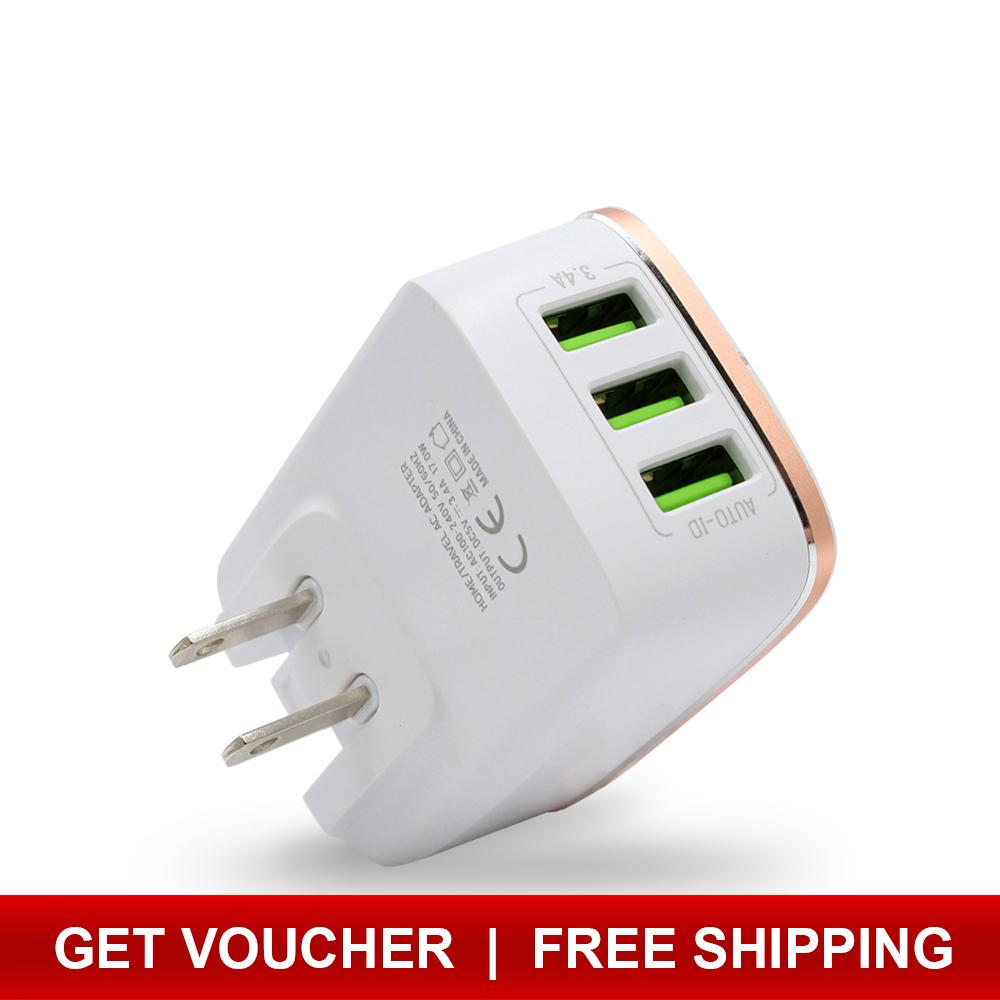 Usb Charger For Sale Travel Prices Brands Specs In Ipod Iphone Wiring Diagram Bavin 34a W 3 Port Slots Android And