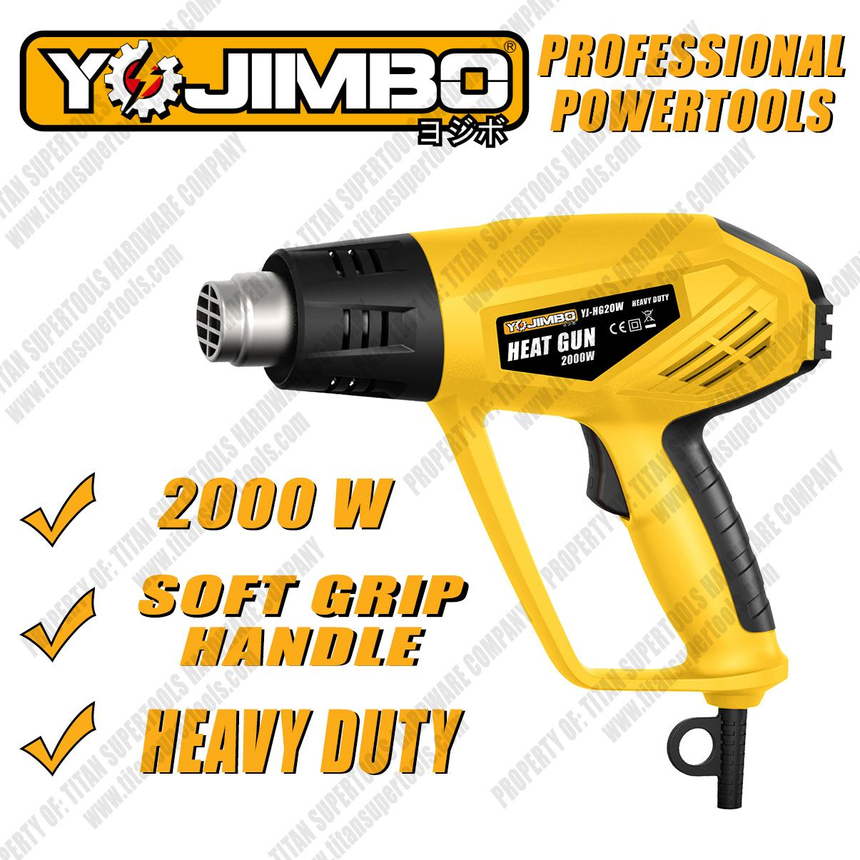 Yojimbo Yj-Hg20w Heat Gun 2000w Professional Heavy Duty (yellow) By Mount Gallelli.