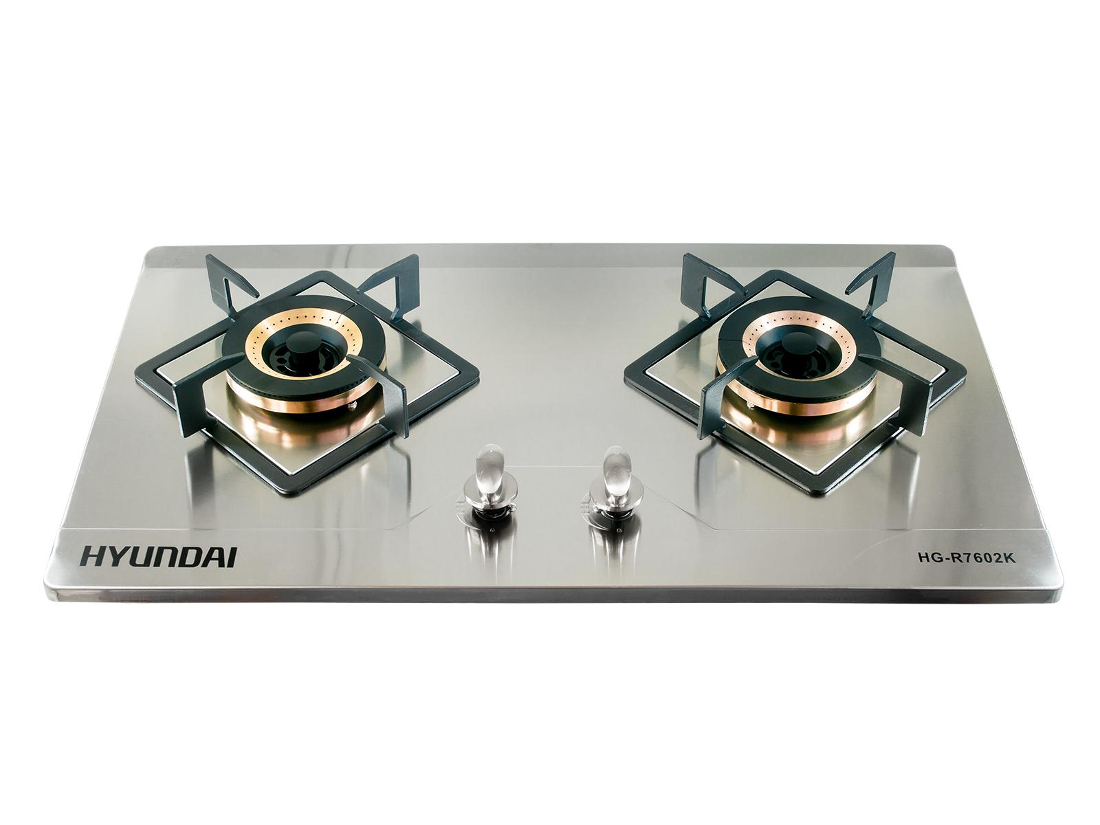 Hyundai Double Burner Stainless Steel Gas Stove Hg R7602k