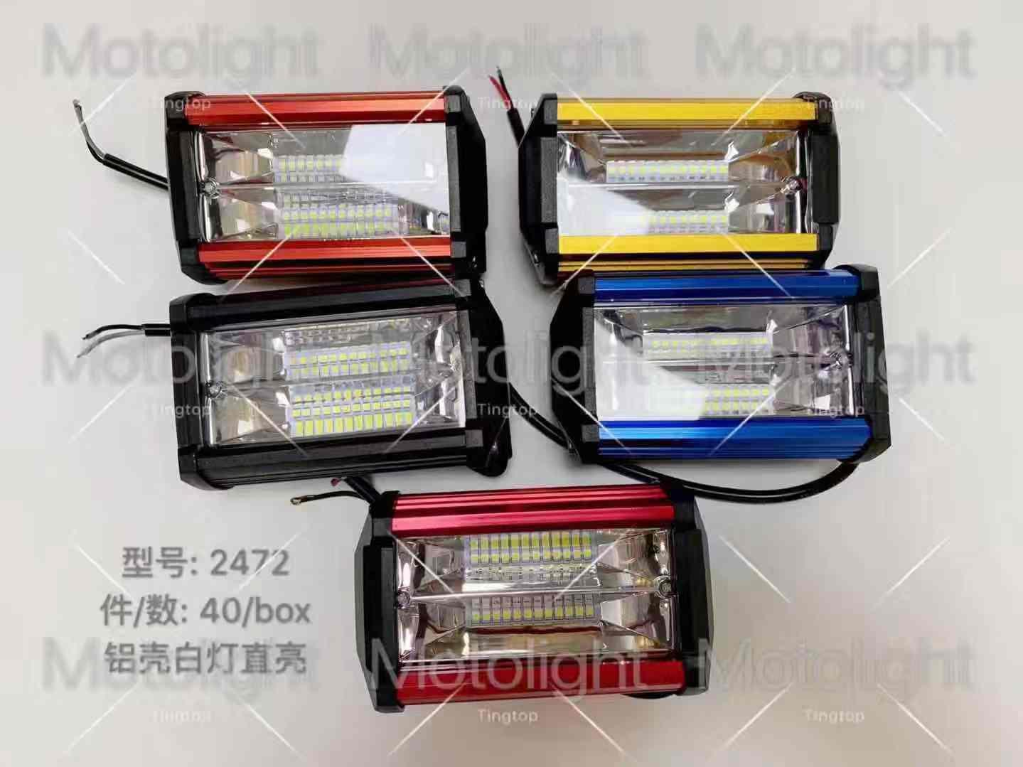 72W Spot LED Light Work Bar Lamp Driving Fog Offroad 4WD