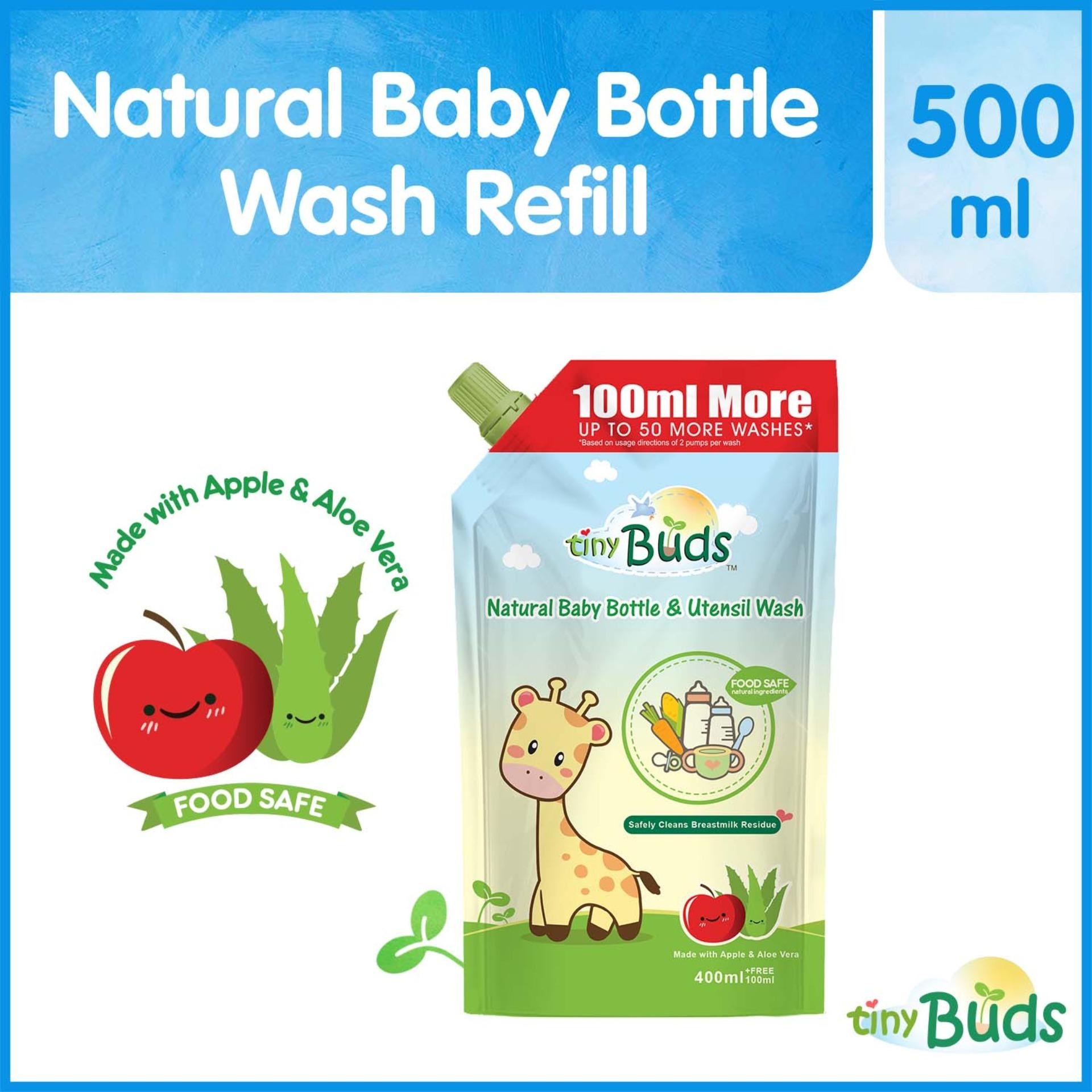 Tiny Buds Natural Baby Bottle And Utensil Wash 500ml By Tiny Buds Baby Naturals.