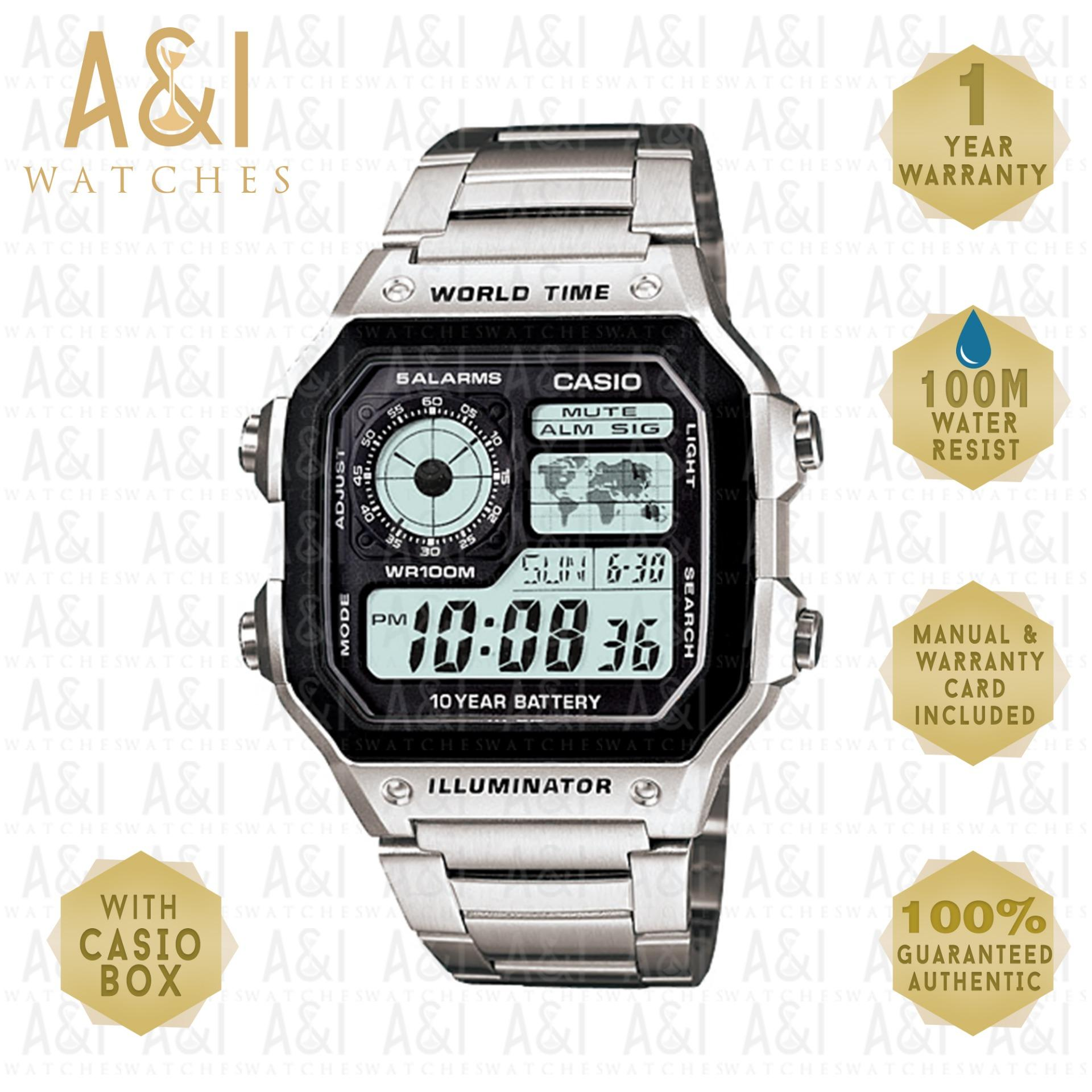 Casio Philippines Watches For Sale Prices Reviews Lazada Jam Tangan Wanita Aw 48he 1avdf Original Illuminator Stainless Steel Ae 1200whd 1yr Warranty