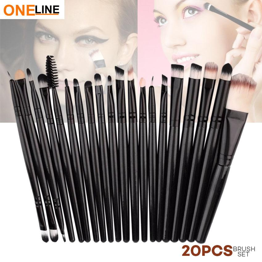 Oneline 20Pcs Makeup Brushes Set (Black) Philippines
