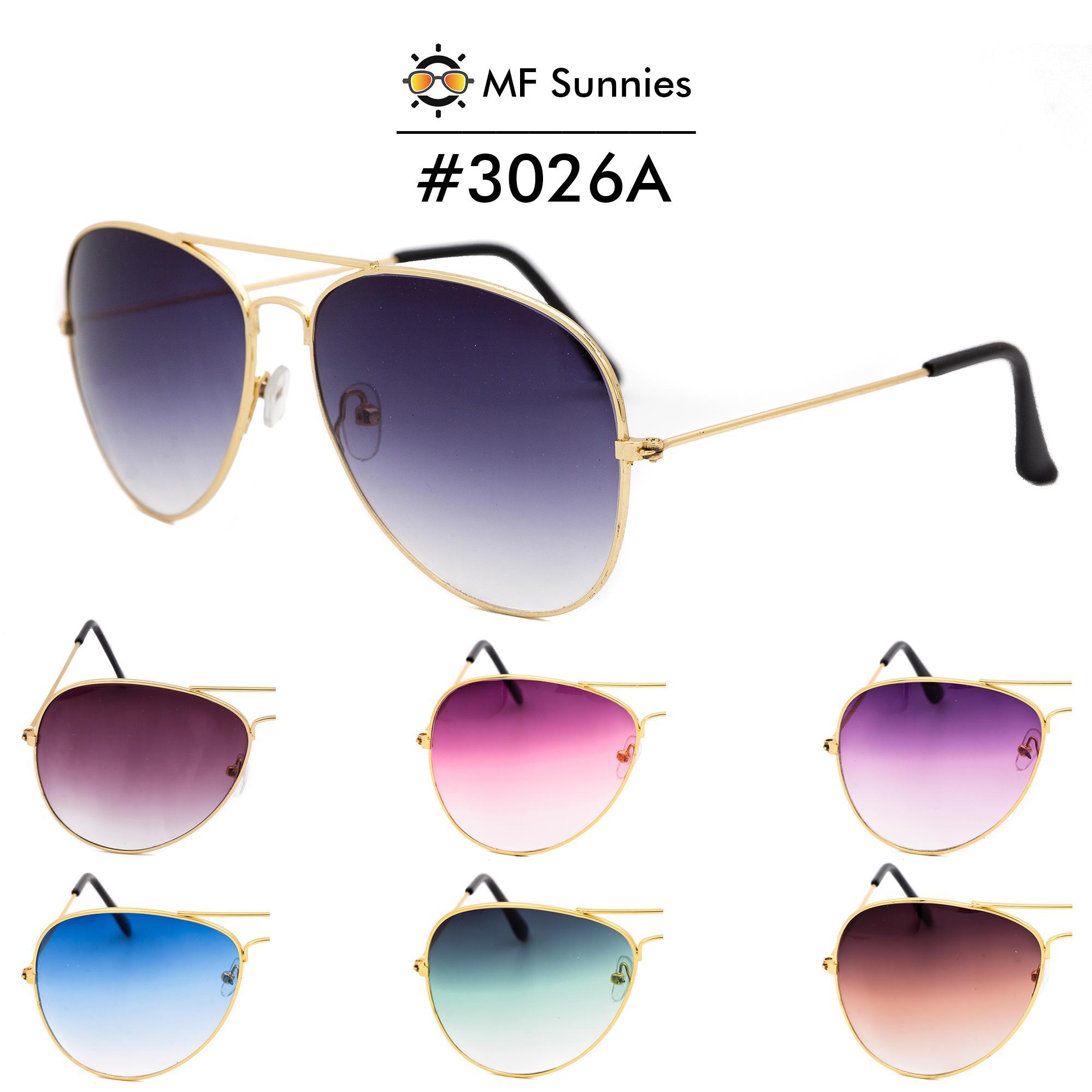 8da9c2bdab MFSunnies Sunnies Classic Aviator Gradient lens Metal Frame Fashion eyewear   3026A