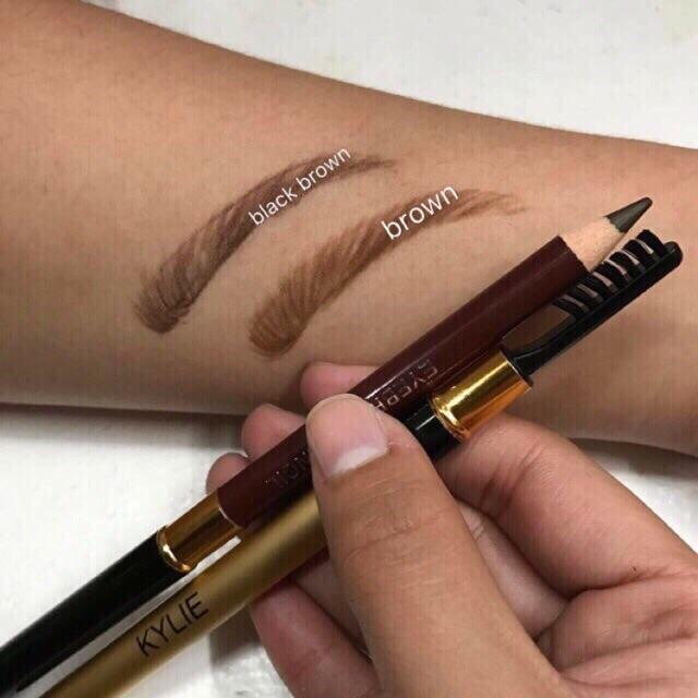 Kylie eyebrow pencil (3pcs dark,light brown) Philippines