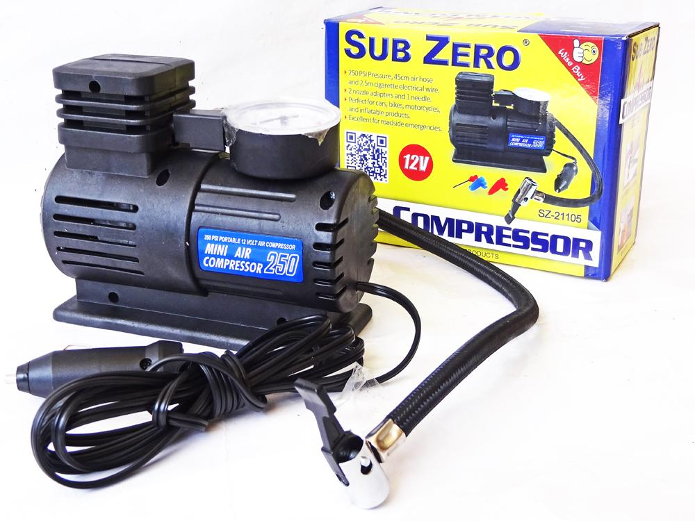 Sub Zero Air Compressor Car Tire Inflator - 250psi By Wasabe Trading Corp..