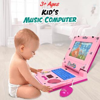 Kid Battery Powered Beautiful Music Computer 3+ Ages, No-Hq2236d By Emerald Enterprises.