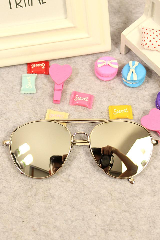 Fan Bingbing SHININGSTAR Celebrity Style South Korea Fashion a Silver Reflective Sun Glasses Slimming Men And