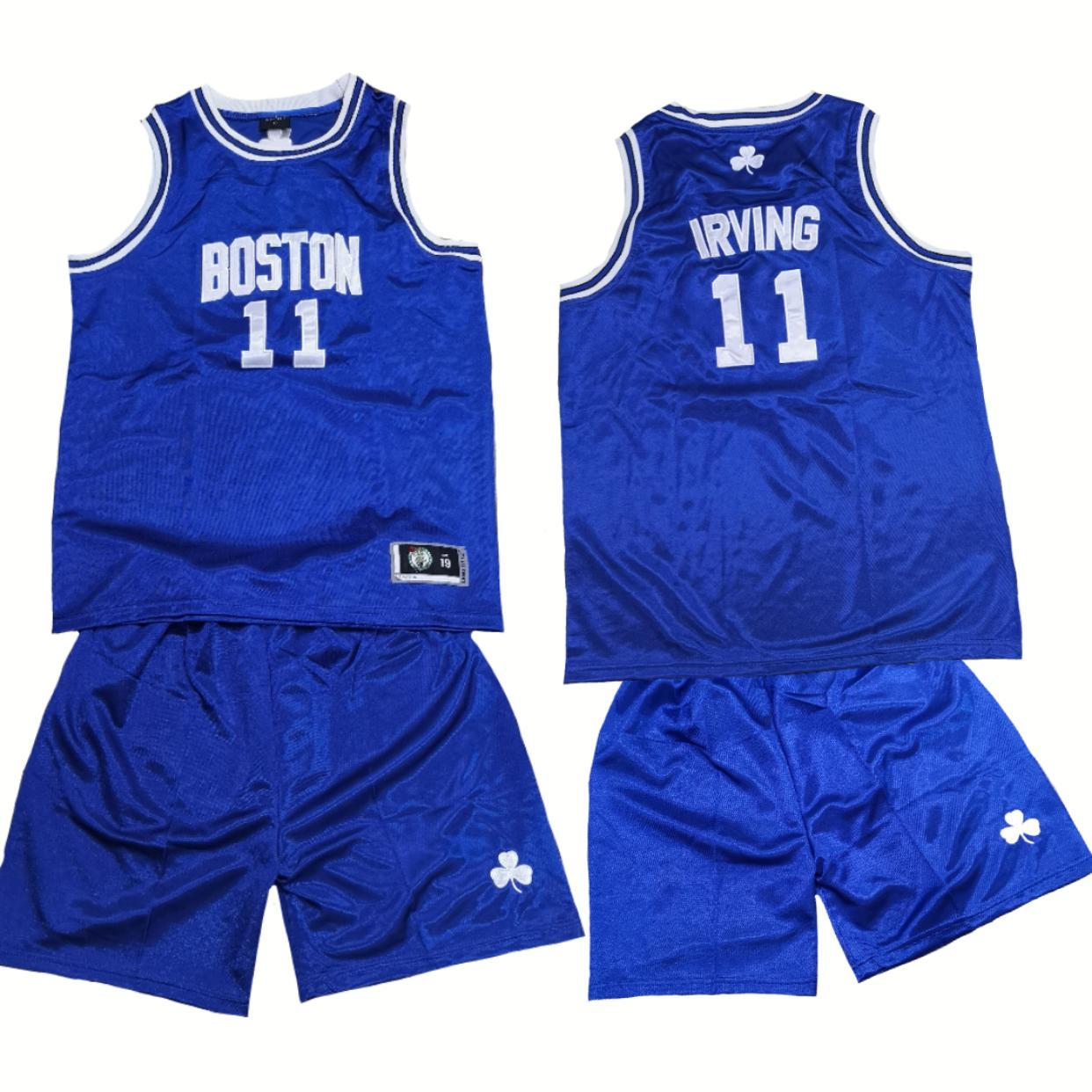 best sneakers 9f90b 5355d ... nba jersey set for kids boston 11 irving royal blue  nba jersey set for  kids boston 11 irving royal blue  detroit pistons 40 bill ...