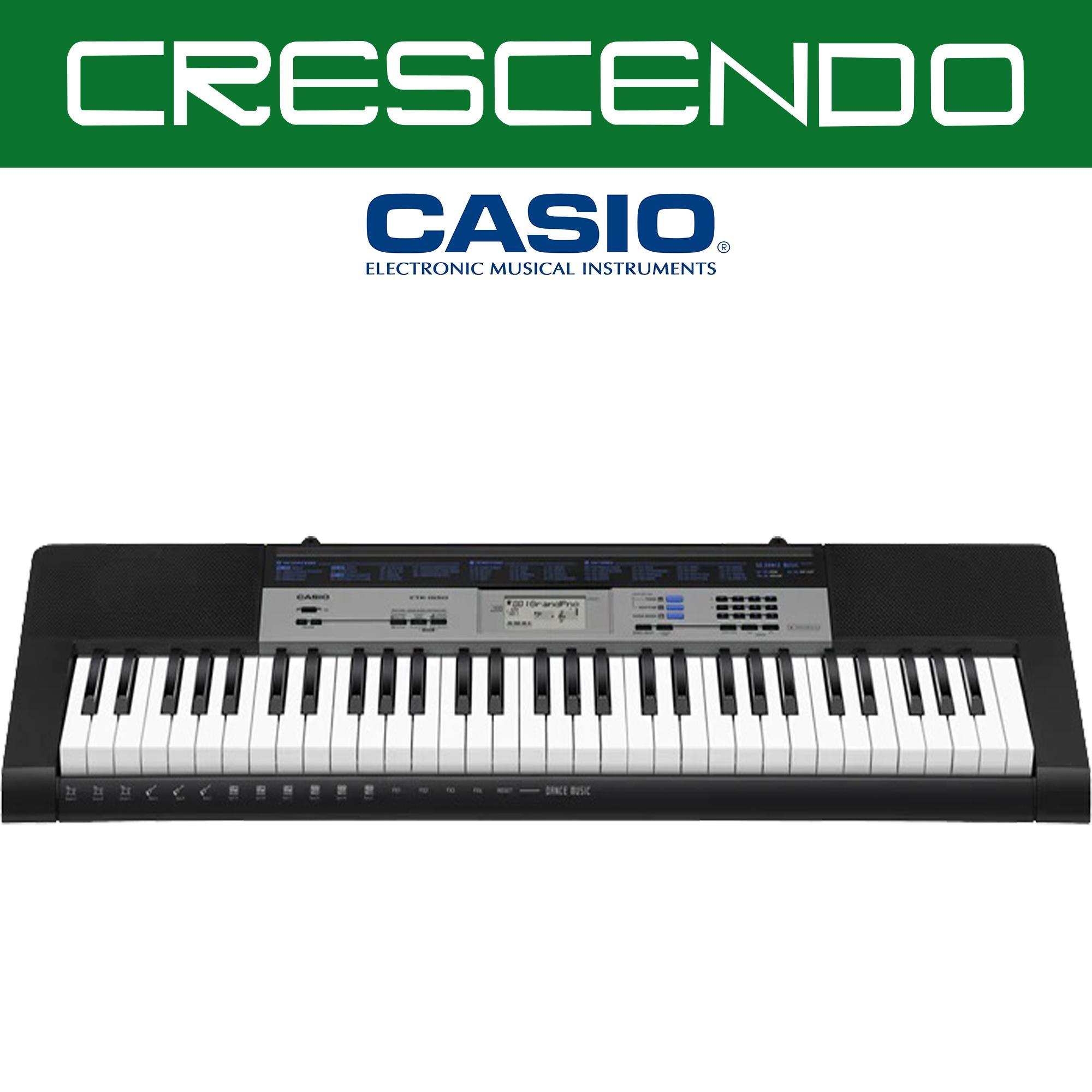 Casio CTK-1550 61 Keys Portable Keyboard (Black) Includes Original Casio  Adapter
