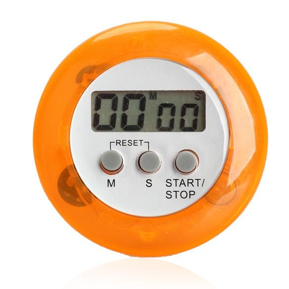 Zoo On Yoo Round Magnetic Lcd Digital Kitchen Countdown Timer Alarm With Stand Orange Set Time Reminder Digital Timers Ng4s By Blong001.