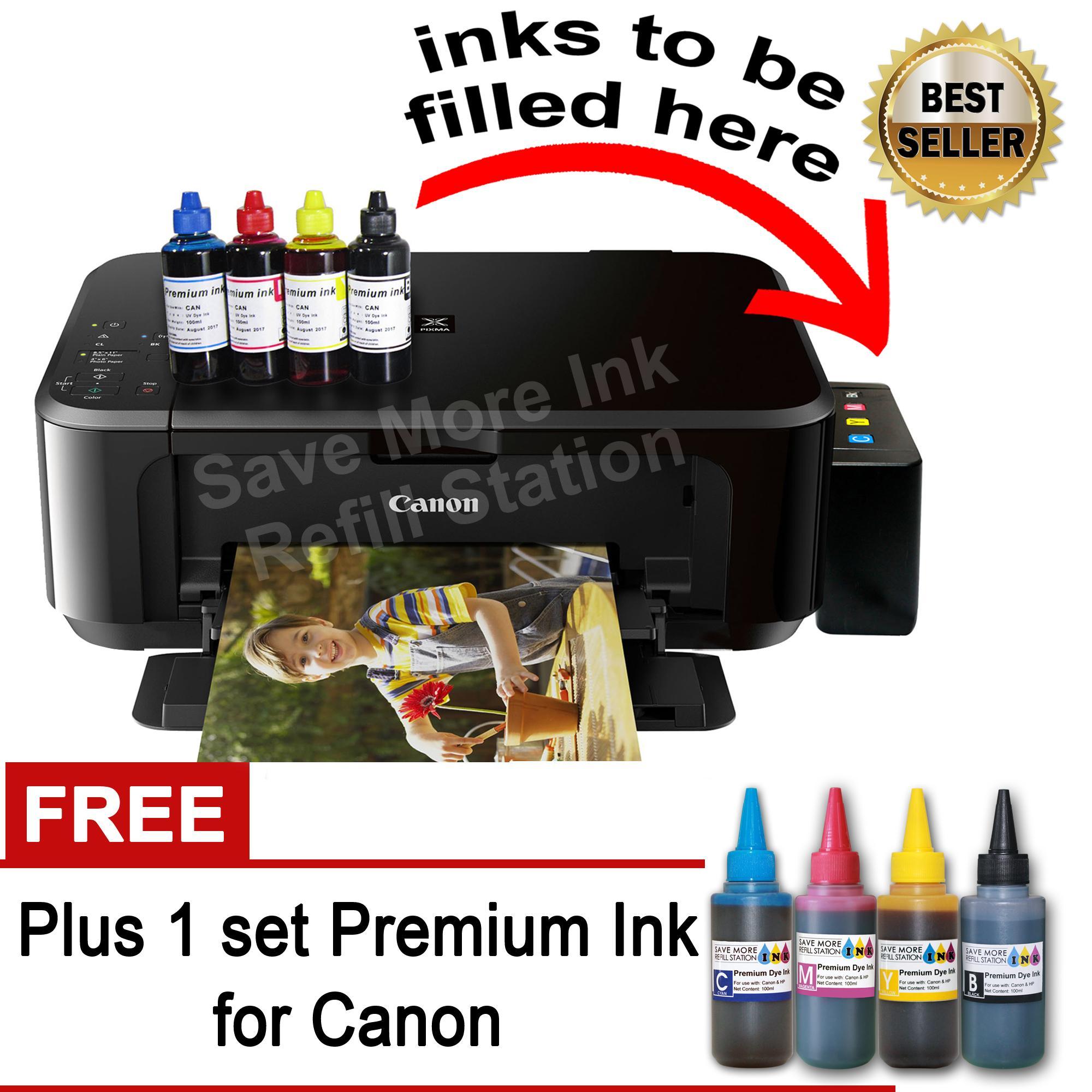 Canon MG3620 6 in 1 Printer w CiSS Wireless Duplex Print