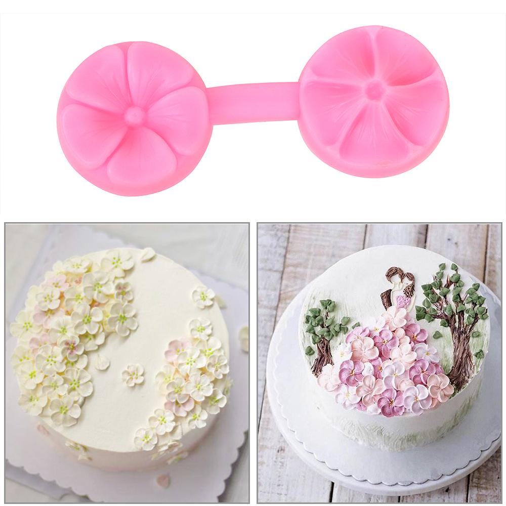 Baking Tool Kitchen Accessories 3D Flower Shape Silicone Mold Sugarcraft Embossed Chocolate Confectionery Mold Cake Tools