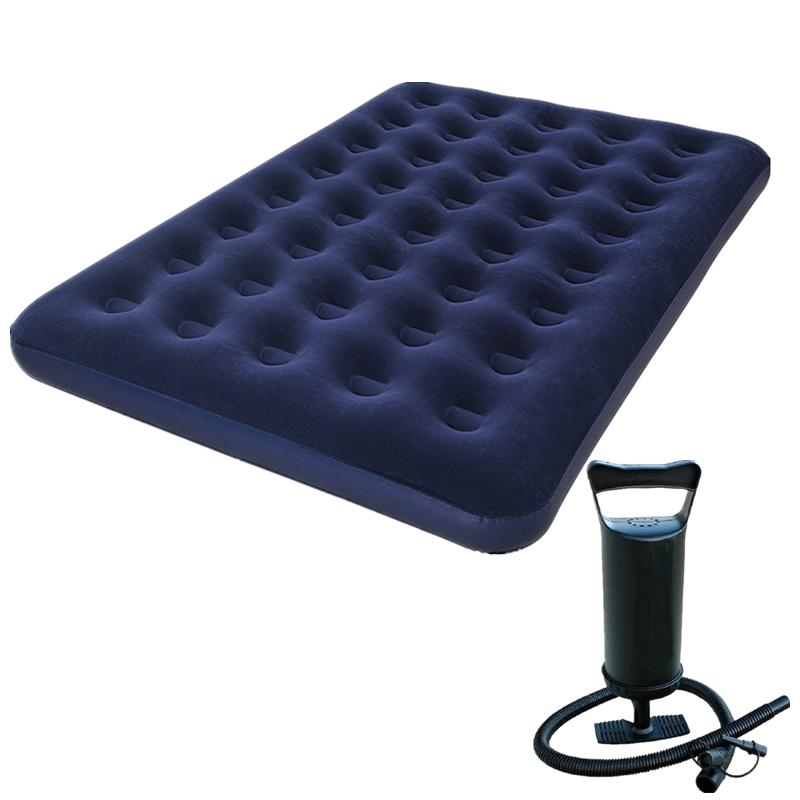 Bestway Inflatable Double Person Air Bed (blue) With Free Manual Hand Air Pump By Usje Trading.