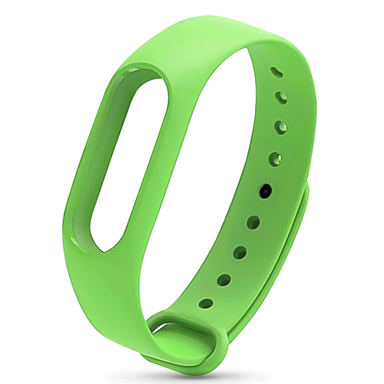 Xiaomi Mi Band 2 Replacement Jelly Watch Band Wrist Strap (apple Green) By Hellotronics.