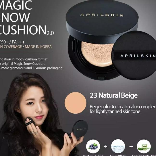 April Skin Black Edition Magic Snow Cushion (#23 Natutal Beige) Philippines