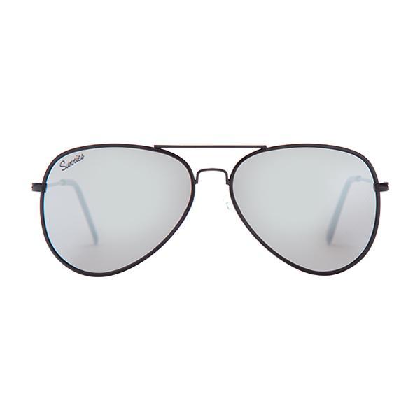 fb9251c3729 Sunnies Studios Taylor Pilot Sunglasses for Men and Women (Nickel Mirror)