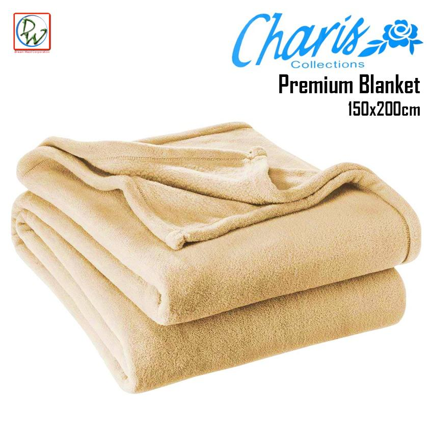 8d8eba7053e0 Semi Polar Fleece Blanket Soft Charis Collection Premium Blanket 150x200cm  (Cream)