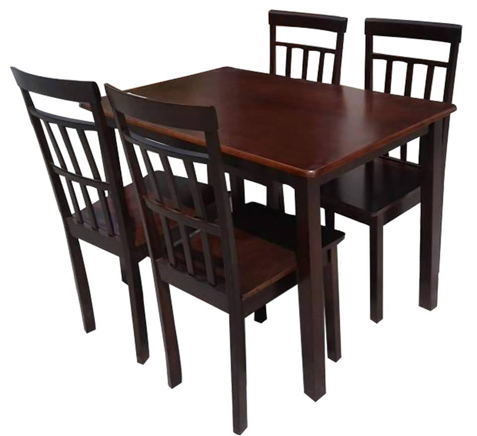 Wooden Dining Table and Chairs 4 s solid wood 5855 4 seater 3ba7d0f5b9