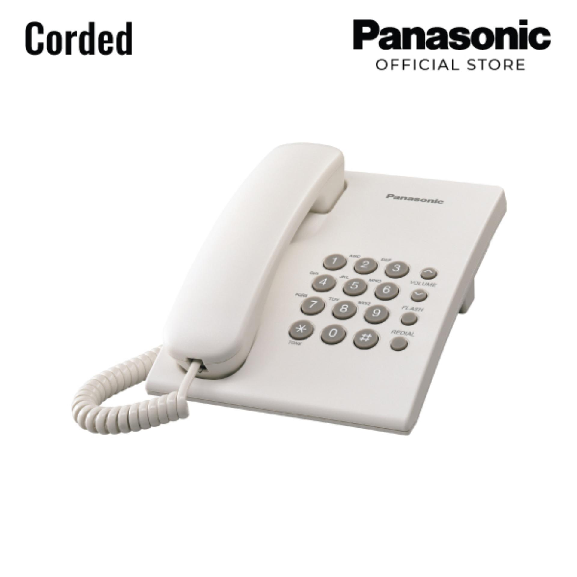 2bab7e4ba18 Panasonic Corded Telephone KX-TS500MX White