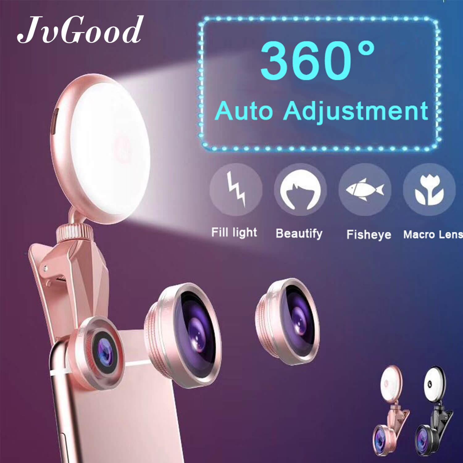 JvGood Phone Camera Flash Light Selfie Ring Light Selfie Portable Fill Light Selfie Flash Clip-