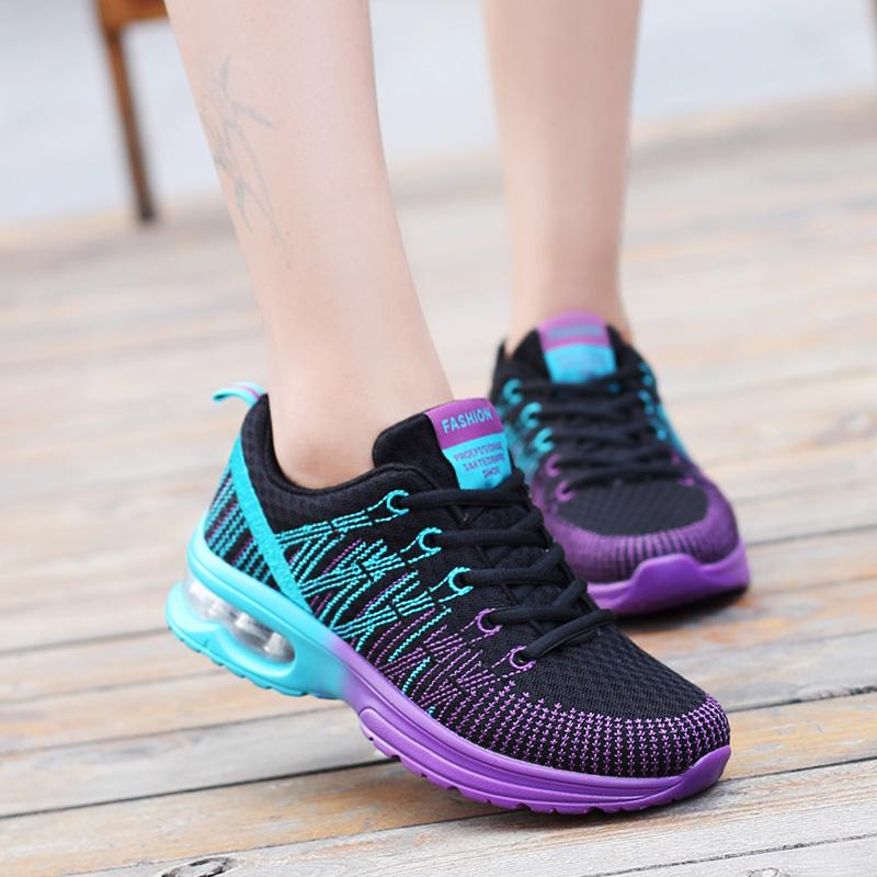 adca364f1d21 19 Spring And Autumn New Style Hollow out Fly Web Surface through Air  Cushion Athletic Shoes