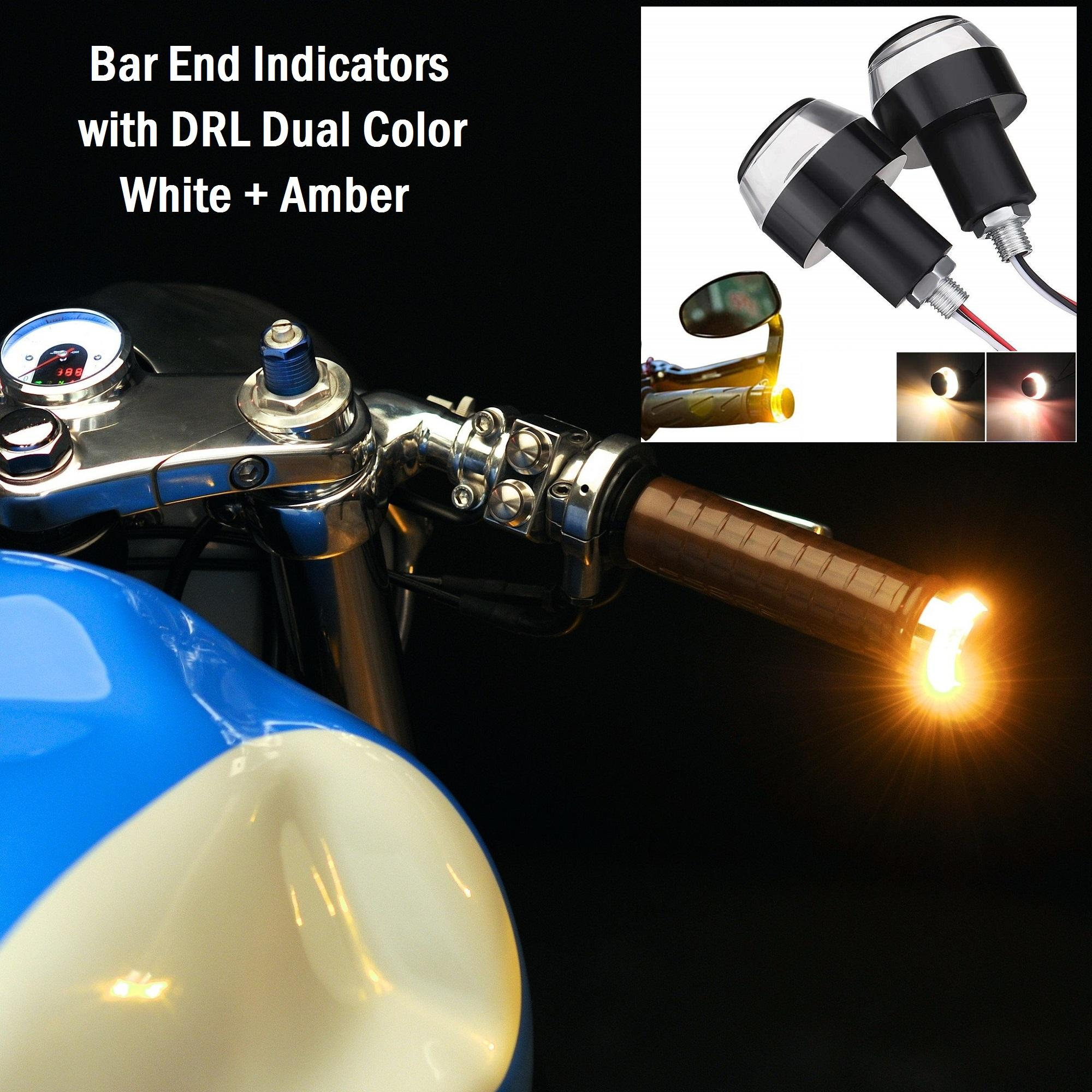Motorcycle Parts For Sale Accessories Online Brands Diy Eliminate Guages Headlight Signal Harness Switch 600rrnet Bar End Indicators Drl Dual Color Handle Grip Led Indicator Turn Lights