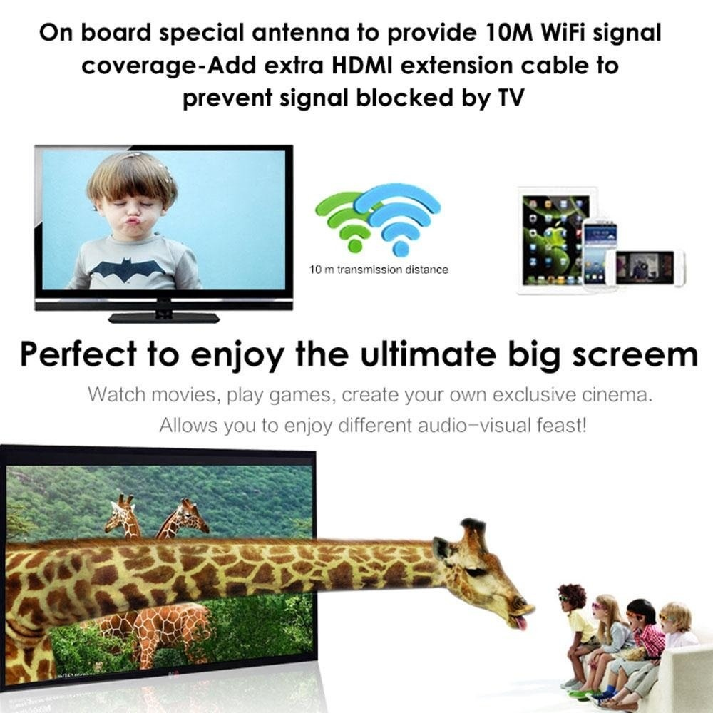 Womdee 1080P Wifi Display Dongle Converter Adapter, Wireless Mini Display  Receiver Dongle HDMI TV, Support DLNA Miracast Aircast - intl